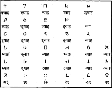 Magar Aaakha Script Vowels and Consonat Graphical Illustration